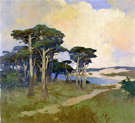Arthur Frank Matthews. The Cypresses Of Monterey, California