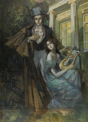 Константин Андреевич Сомов. Пушкин и муза. 1930