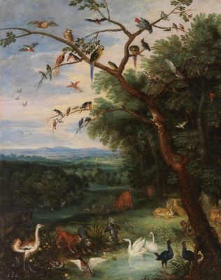 Peter Brueghel The Younger. Heaven on earth. Fragment II