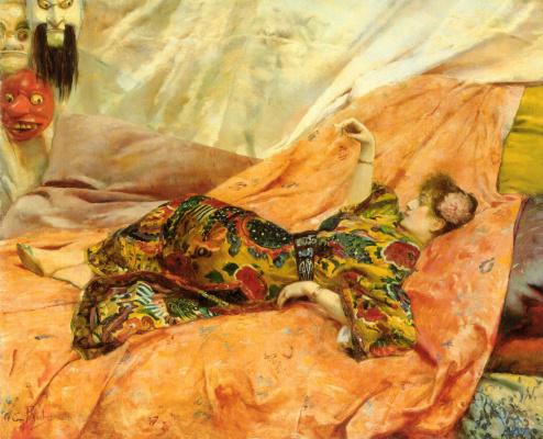 Жорж Антуан Рочегросс. Портрет Сары Бернар
