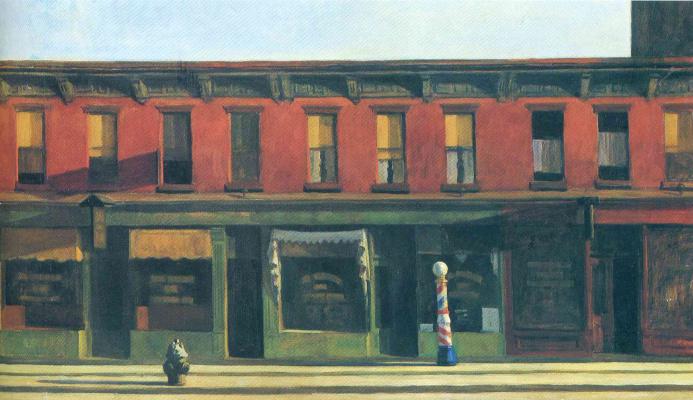 Edward Hopper. Early Sunday morning