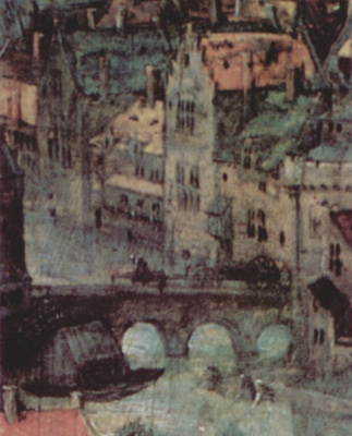 Jan Bruegel The Elder. The construction of the tower of Babel, a fragment