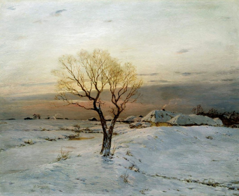 Nikolay Nikanorovich Dubovsky. Frosty morning