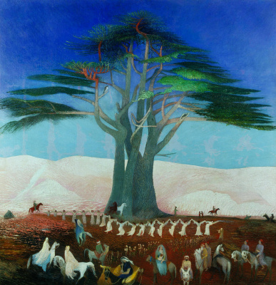 Tivadar Kostka Chontvari. Pilgrimage to the cedars in Lebanon