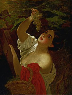 Карл Павлович Брюллов. Итальянский полдень.  Уменьшенный вариант - повторение картины 1827 года