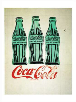 Andy Warhol. Three bottles of Coca-Cola