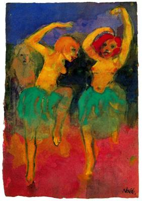 Emil Nolde. Two dancers
