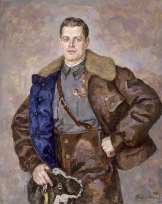 Petr Petrovich Konchalovsky. Portrait of hero of the Soviet Union, pilot A. B. Yumashev