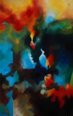 Катерина Володимирівна Бішарєва. Холодно-теплый абстракт/Warm  Abstract