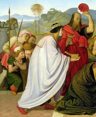 Johann Friedrich Overbeck. Adoration of the Magi. 1813 part