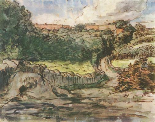 Жан-Франсуа Милле. Пейзаж в Гревилле