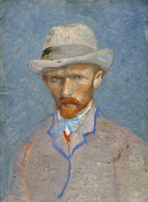 Vincent van Gogh. Self-portrait in a gray felt hat