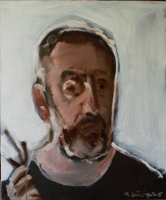 Matvey Weissberg. Self-portrait (insane, depicting himself a painter)