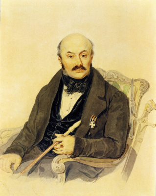 Петр Федорович Соколов. Портрет М.Ф. Орлова . Конец 1830-х - начало 1840-х