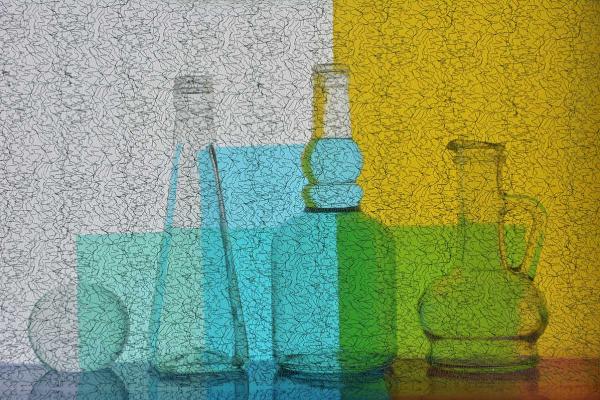 Vladimir Nikolaevich Bezgreshnov. Still life with glass.color