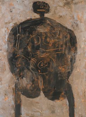 Авдей Степанович Тер-Оганьян. Female body (according to Jean Dubuffet)