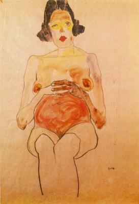 Egon Schiele. Pregnant woman