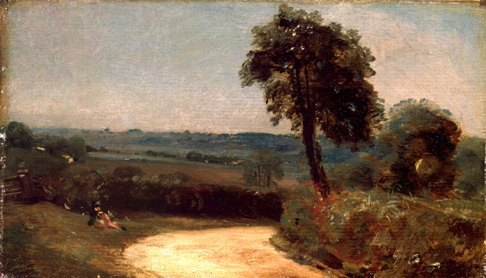John Constable. Landscape: the road from East Bergholt in Flatford