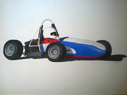 Victoria Aleksandrovna Oleinikova. MADI car race (in color)