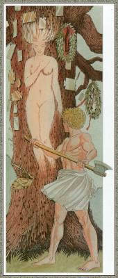 Джованни Казелли. Девушка и дерево