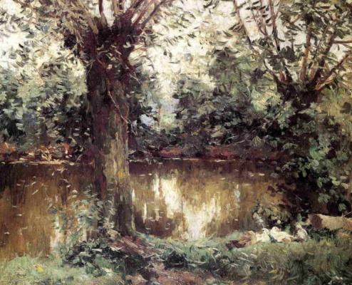 Gustave Caillebotte. Landscape. Shore Hierro.