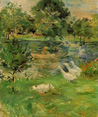 Berthe Morisot. Girl in a boat with geese