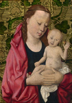 Workshop Of Dirk Bouts. The Madonna and child. 1465 approx.