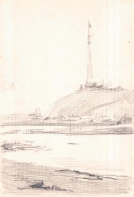 Arkady Pavlovich Laptev. TV tower on the Bank