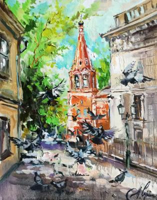 Anna Anatolyevna Charina. Pigeons At metro Taganskaya