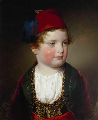 Фридрих фон Амерлинг. Портрет князя Виктора Одескальки в греческом костюме. 1838