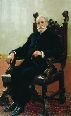 Ilya Efimovich Repin. Portrait of the Chairman Azov -don commercial Bank in St. Petersburg A. B. Mentzelia