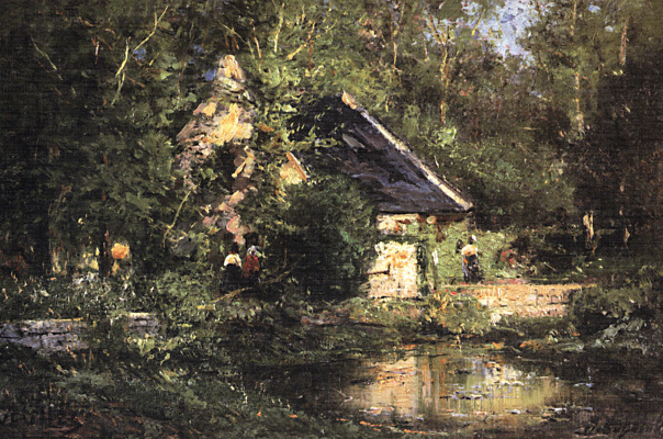 Alexey Petrovich Bogolyubov. The mill in Vela. Spring
