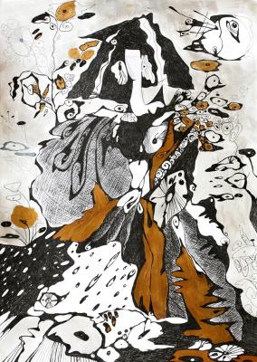 """Irina Shumskaya. The painting """"The Snow Queen"""" Irina SHUMSKAYA"""