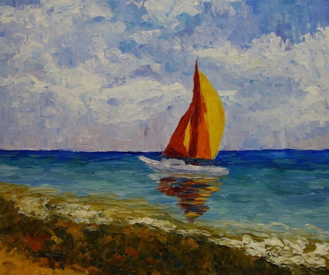 Larissa Lukaneva. Sailboat