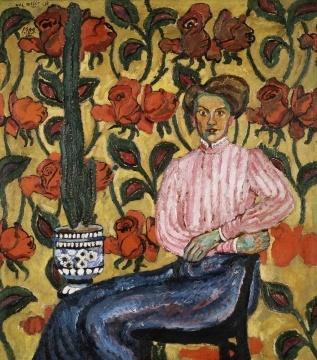 Ilya Ivanovich Mashkov. Portrait Of V. P. Vinogradova