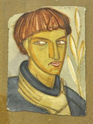 Михаил Львович Бойчук. Портрет Василия Седляра(ученик Бойчука).
