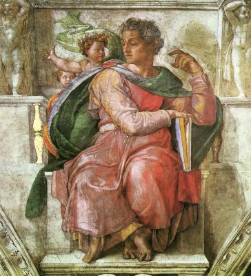 Michelangelo Buonarroti. The Prophet Isaiah