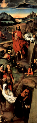 Hans Memling. The Resurrection Of Christ. Altar of the passion (Triptych Greverud). Right wing