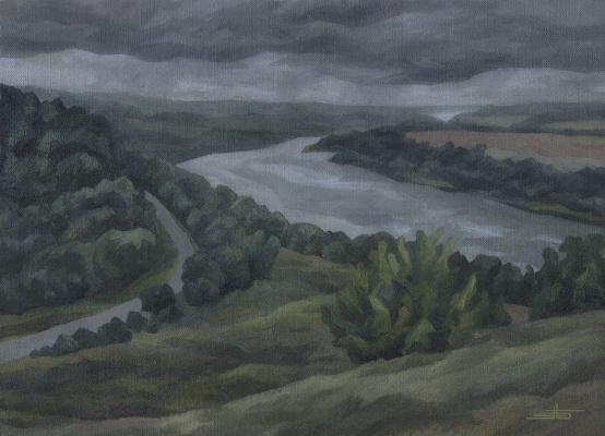 Andrei Ivanovich Borisov. Sad landscape