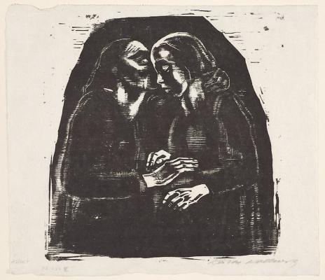 Käthe Kollwitz. Mary and Elizabeth