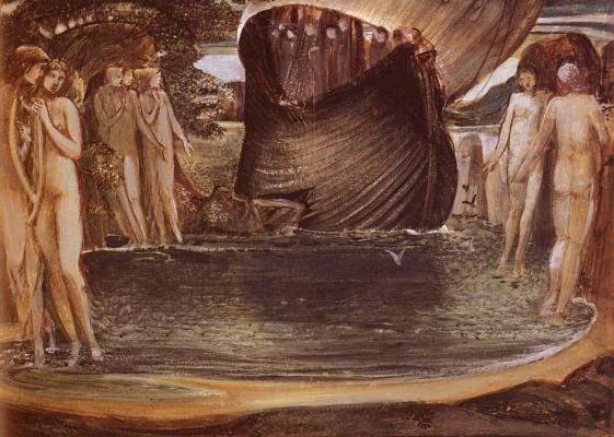Edward Coley Burne-Jones. Sirens. Sketch