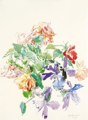 Oskar Kokoschka. Bouquet of flowers