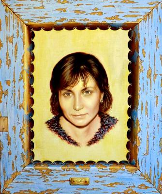 Valery Vasilyevich Litvinov. Olga's portrait