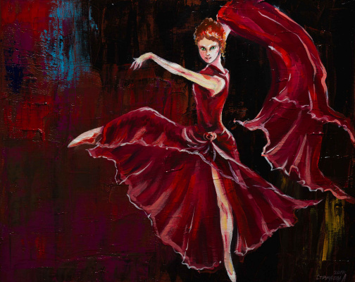 "Alla Struchayeva. Painting ""Passion"""