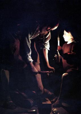 Georges de La Tour. Saint Joseph the carpenter