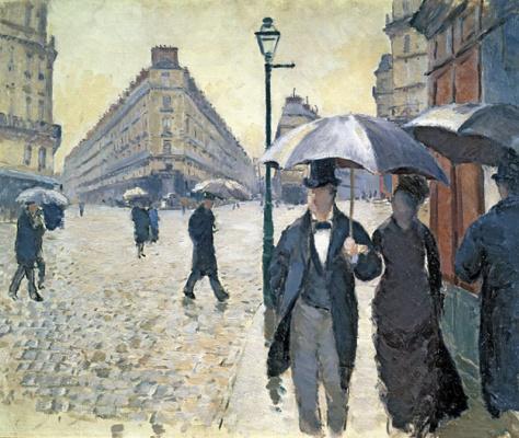 Гюстав Кайботт. Парижская улица в дождливую погоду (этюд)
