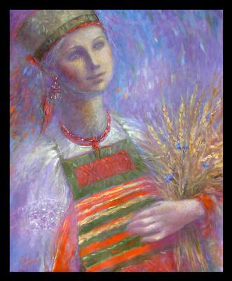 Olga Ray. Girl in Russian costume