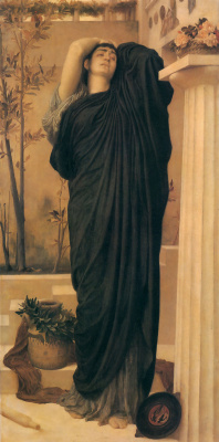 Frederic Leighton. Electra at the grave of Agamemnon