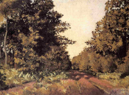 Gustave Caillebotte. Hierro., forest in La Grange