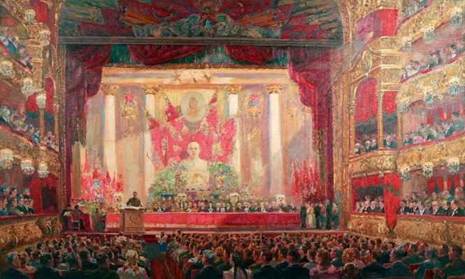 Alexander Mikhailovich Gerasimov. Hymn October. 1942